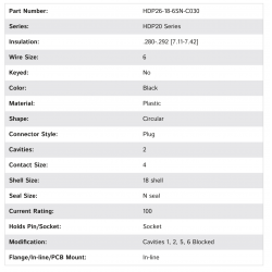 HDP26-18-6SN-C030