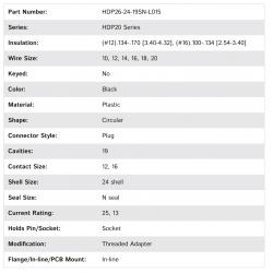 HDP26-24-19SN-L015